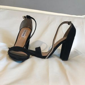 Steve Madden Black suede block heel sandals